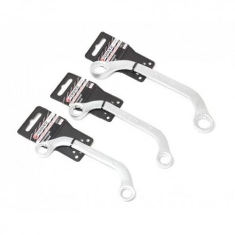 Набор ключей трещоточных комбинированных с шарниром 09пр 8-20мм в пласт. держателе Forsage 51092F-F